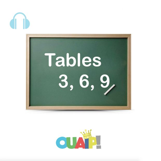 Les tables de multiplication par 3, 6 et 9